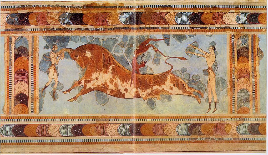 """Greek Art & Architecture: Knossos: The """"Toreador"""" Fresco"""