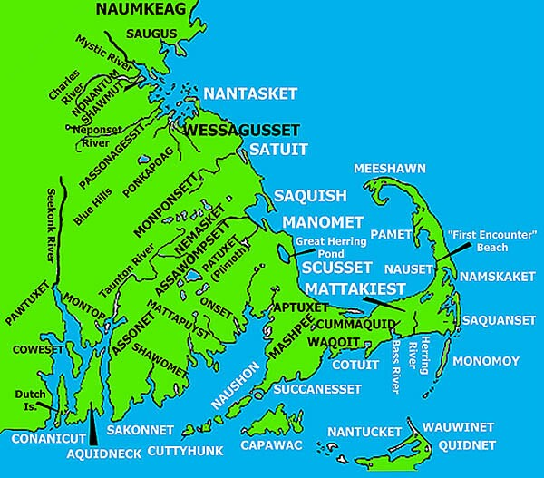 Wampanoag Tribe Map